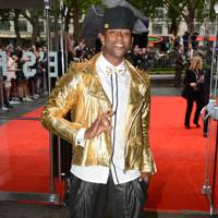 Oritsé Williams at The Dark Knight Rises premiere