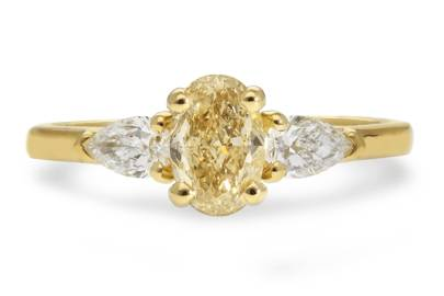 Victoria Beckham-Inspired Engagement Rings - Yellow Diamond