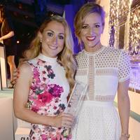 Laura Trott and Gabby Logan