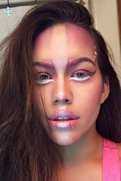 Wed Like To Wear This Any Day Of The Week Not Just On Halloween If You Want To Copy Tiffany Valadezs Alien Makeup Visit Her Instagram