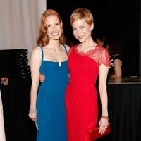 Jessica Chastain and Michelle Williams at the SAGs 2012