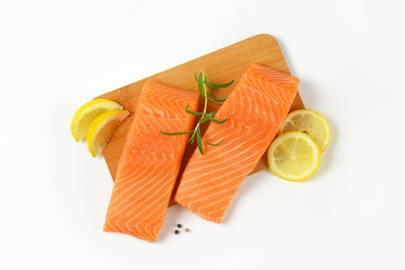 Salmon, mackerel, tinned tuna and canned sardines