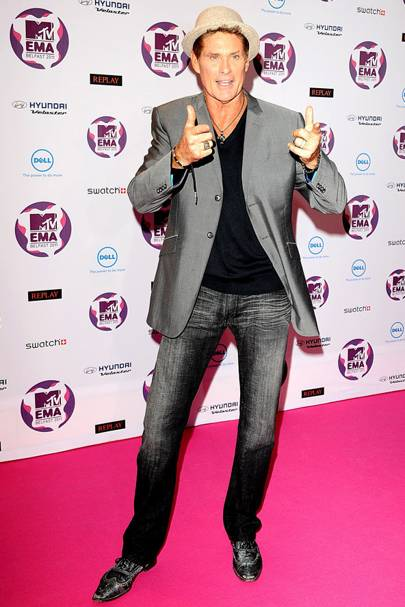 David Hasselhoff at the MTV EMAs 2011