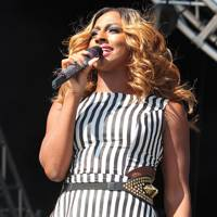 Alexandra Burke performs at Party In The Park