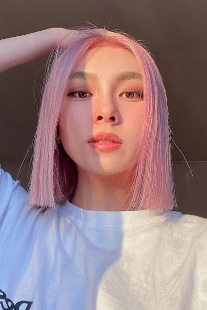 Pretty pink paper-cut bob