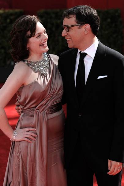 Elisabeth Moss and Fred Armisen