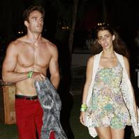 Thom Evans and Jessica Lowndes at Coachella