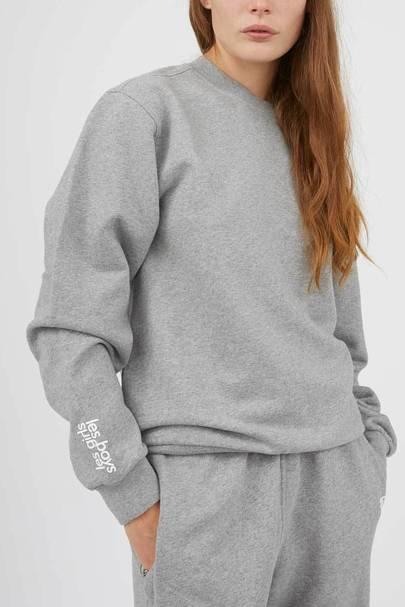 Best loungewear: the grey sweatshirt