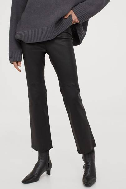 Leather trousers: the ankle-length pair