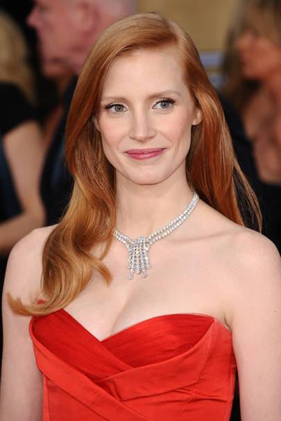 Old-School Glamour - Jessica Chastain
