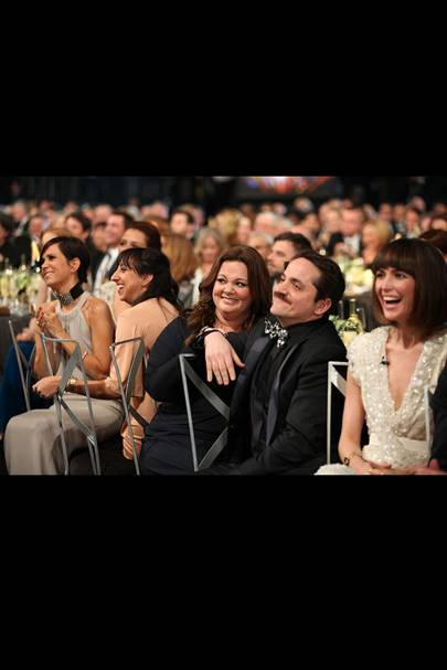 The cast of Bridesmaids at the SAGs 2012