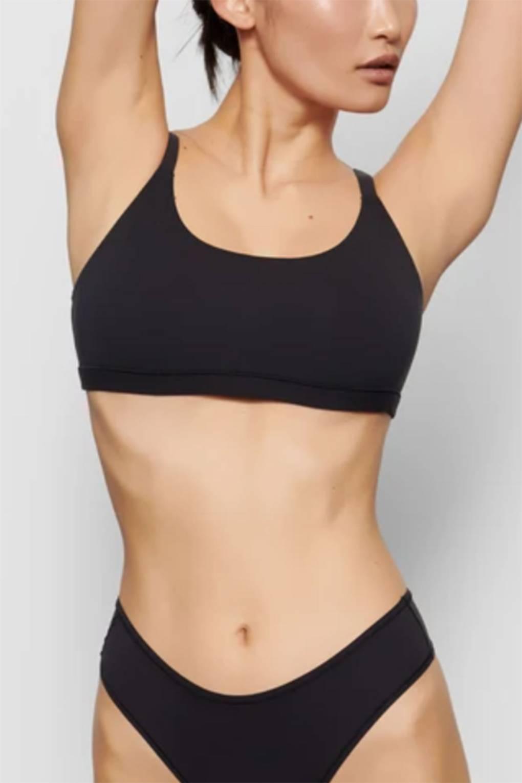 black size medium Bra top ultra soft microfibre bra top no fastenings