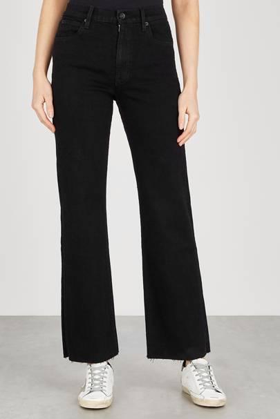 Best Black Jeans - Frayed Hem