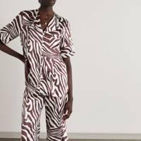Zebra Print Trousers - Maison Essentiele