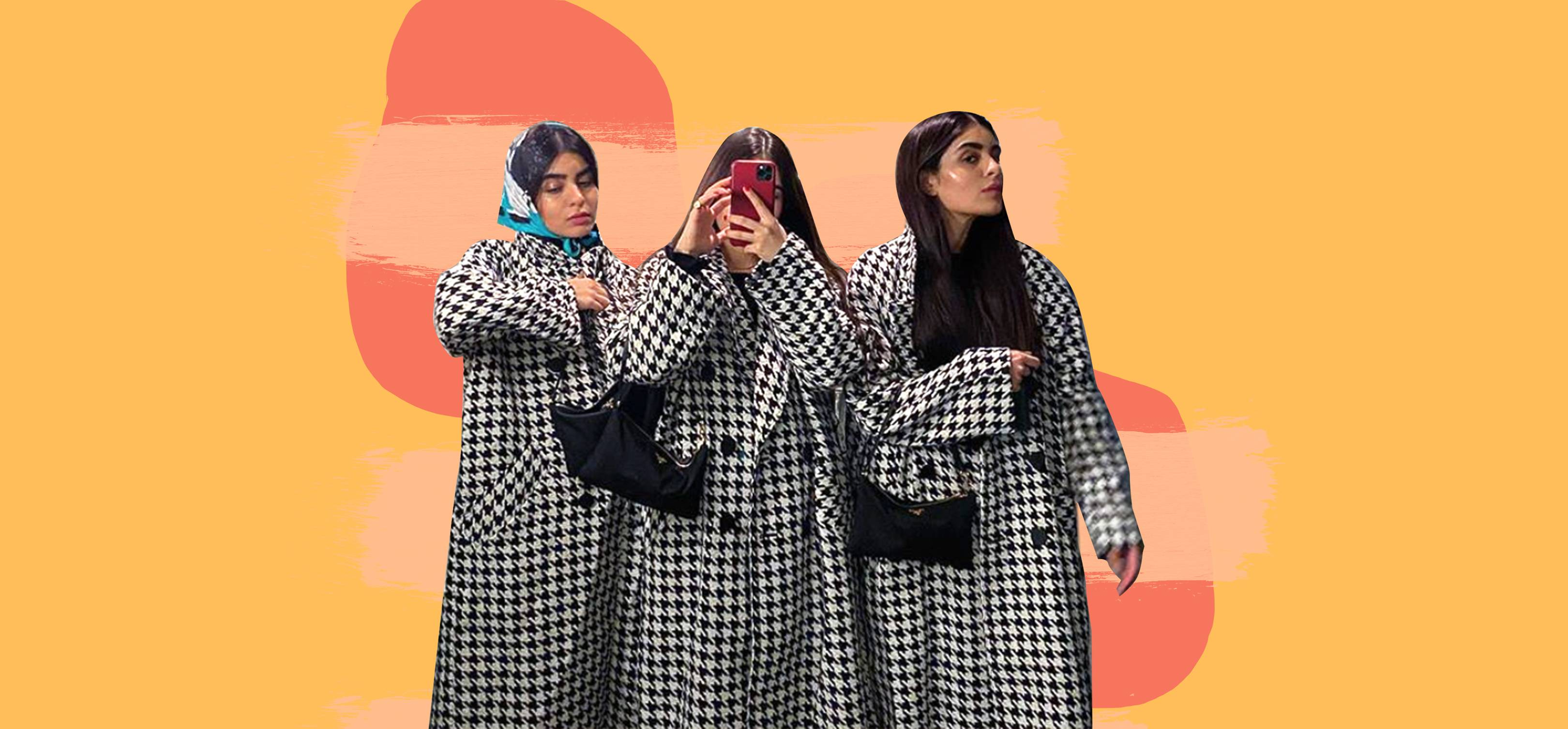 You'll see this H&M dogtooth coat all over influencers on Instagram this season