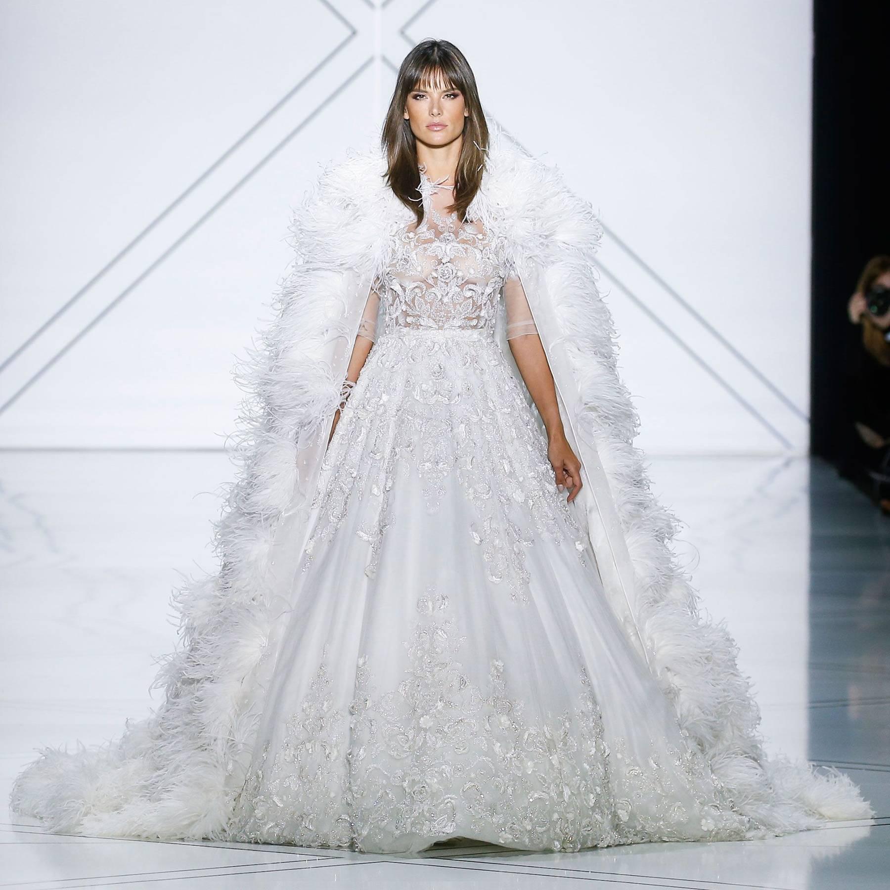 Alessandra Ambrosio Wedding Dress Ralph Russo Catwalk Glamour Uk