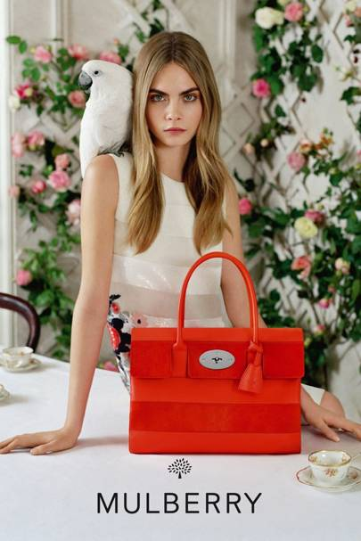 b6013809ce Cara shows us a sneak peek of her Mulberry campaign