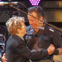 Bruce Springsteen and his mum at Hard Rock Calling