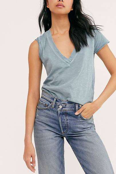 Best V neck t-shirts: Free People