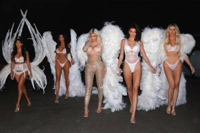 The Kardashians as Victoria's Secret Angels