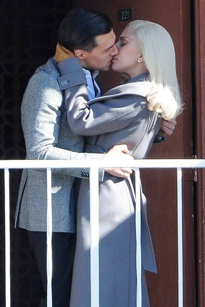 Lady Gaga and Finn Wittrock in American Horror Story: Hotel