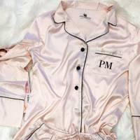 Bridesmaid pyjamas: from satin