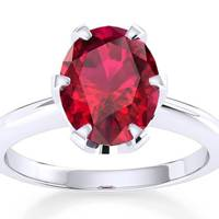 Victoria Beckham-Inspired Engagement Rings - The Ruby One