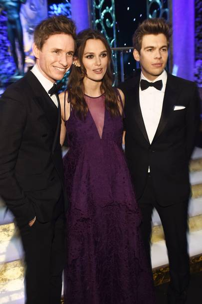Eddie Redmayne, Keira Knightley & Jame Righton