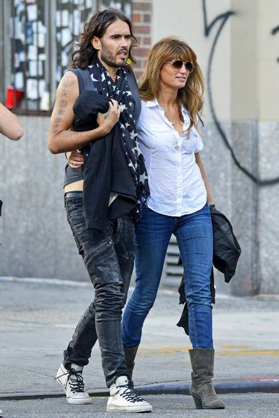 September: Russell Brand & Jemima Khan