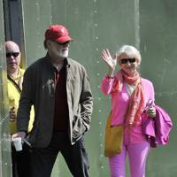 Taylor Hackford and Helen Mirren at At One In The Park