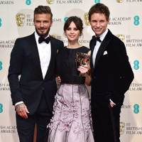 David Beckham, Felicity Jones & Eddie Redmayne