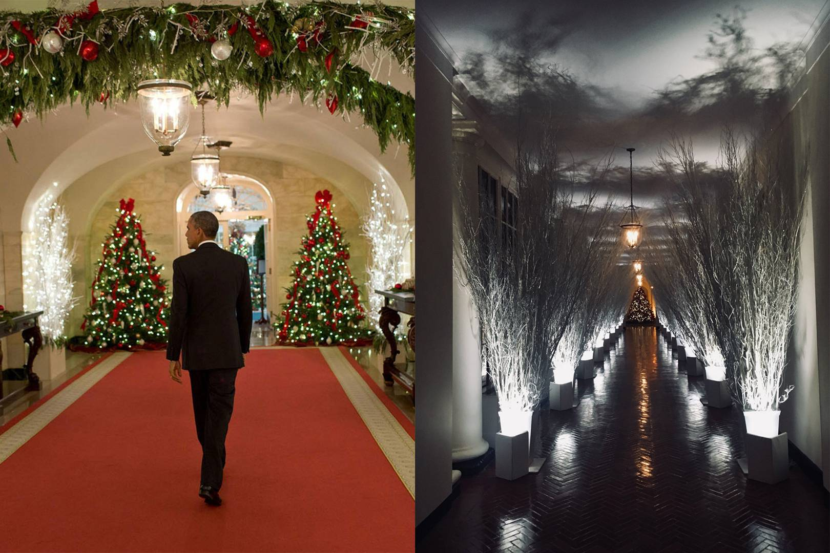 the white house christmas decorations are slightly odd glamour uk
