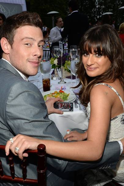 She helped Lea Michele channel her grief