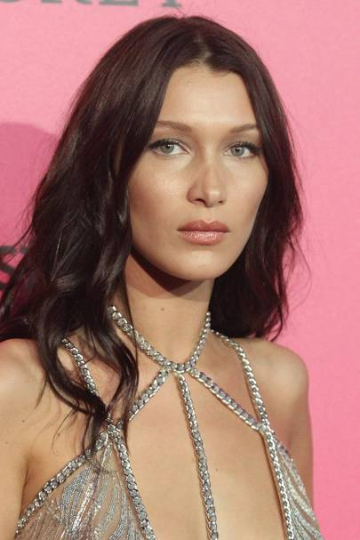 Bella Hadid's pared-down makeup