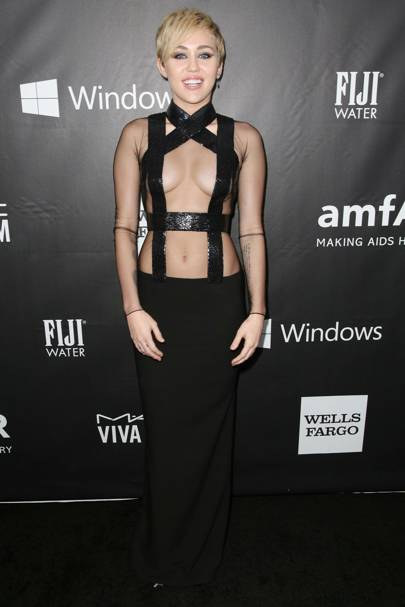 Miley Cyrus spent $500,000 at the amfAR Gala