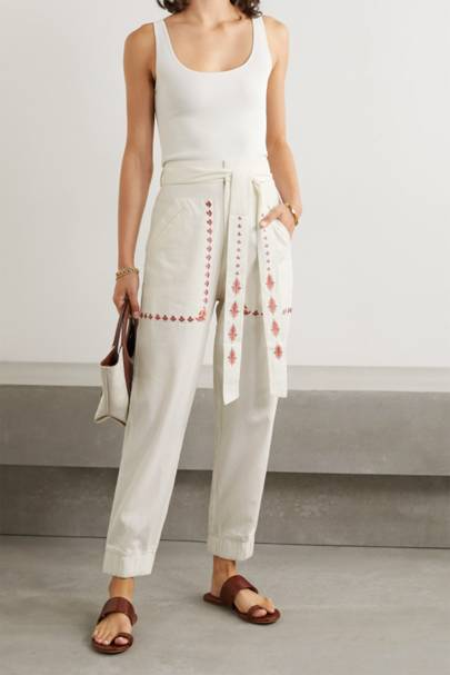FLORALCHUFY - EMBROIDERED TROUSERS