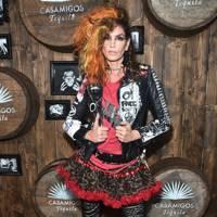 Cindy Crawford as a punk rocker