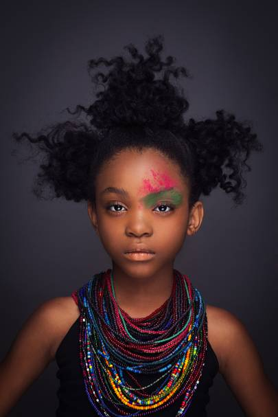 Portraits of black girls rocking natural hair