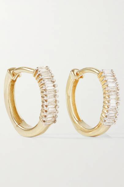 BEST GOLD HOOPS: WITH DIAMONDS