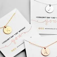 Best bridesmaid proposal necklace