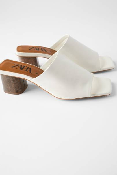 The leather mules