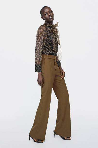 2407df3476c7a7 Zara s Leopard Print Blouse Is Already The Piece Of The Season ...