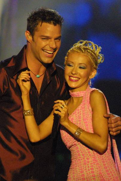 Christina Aguilera and Ricky Martin got steamy