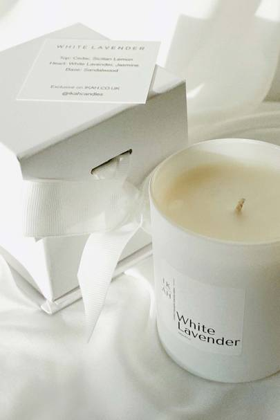 White Lavender Candle by IKAH
