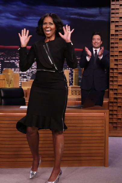 2017: For  an appearance on Jimmy Fallon's Tonight Show
