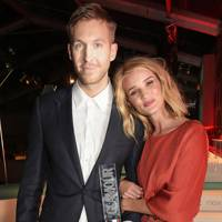 Calvin Harris and Rosie Huntington-Whiteley