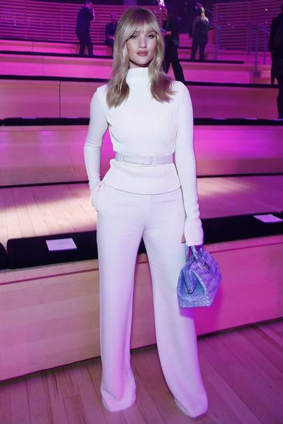115713967ec Rosie attends the Brandon Maxwell show during New York Fashion Week wearing  all white  a total classic.