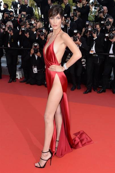b8755b34d9f7 Bella Hadid interview 2016 Cannes red dress and Gigi Hadid
