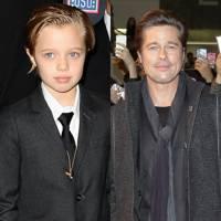 Brad Pitt & Shiloh Jolie-Pitt