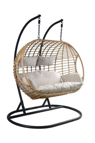 Two seat hanging egg chair: Robert Dyas
